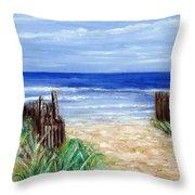 Long Beach Island Nj Throw Pillow