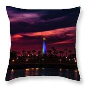 Long Beach Lighthouse II Throw Pillow