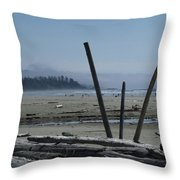 Long Beach Summer Days Throw Pillow