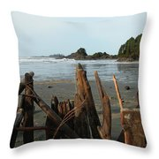 Long Beach, Tofino Throw Pillow