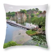 Long Bien Park Throw Pillow