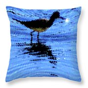 Long-billed Diwitcher Throw Pillow