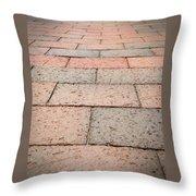 Long Bricked Walks Throw Pillow