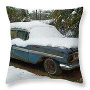 Long Cool Blue Impala Throw Pillow
