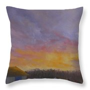 Long Cove Sunrise Throw Pillow