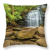 Long Creek Falls Throw Pillow