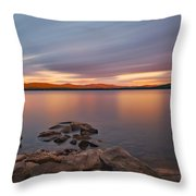 Long Expo Over Connecticut Lake Throw Pillow