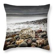 Long Exposure At Lawrencetown Beach, Nova Scotia Throw Pillow