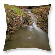 Long Exposure Picture Of Waterfall Throw Pillow