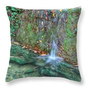 Long Exposure Waterfall Throw Pillow