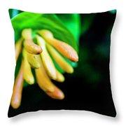 Long Flower Throw Pillow