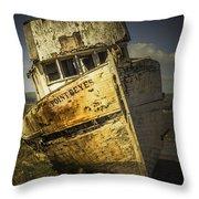 Long Forgotten Boat Throw Pillow