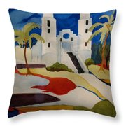 Long Island Church Throw Pillow