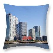 Long Island City Towers Throw Pillow
