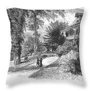 Long Island: Summer Home Throw Pillow by Granger