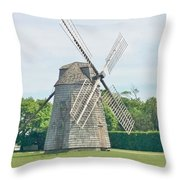 Long Island Wind Mill Throw Pillow