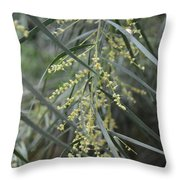 Long Leaves Throw Pillow