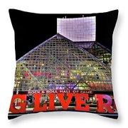 Long Live Rock Throw Pillow