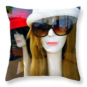 Long Necked Lovelies Throw Pillow
