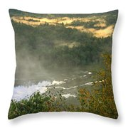 Long Pond Tully River Fog Throw Pillow