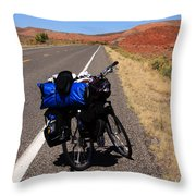 Long Road Ahead Throw Pillow