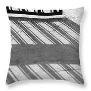 Long Shadow Of Metal Gate Throw Pillow