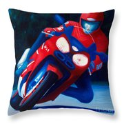 Long Shadows - Kawasaki Zx6 Throw Pillow