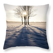 Long Shadows Throw Pillow