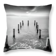 Long Silence Throw Pillow