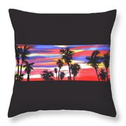 Long Skinny Sunset Throw Pillow