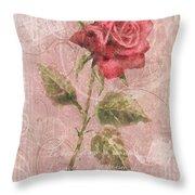 Long Stemmed Rose Throw Pillow