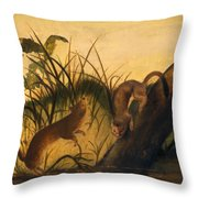 Long - Tailed Weasel Throw Pillow