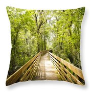 Long Walks Throw Pillow