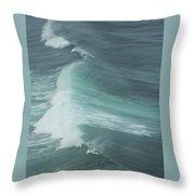 Long Wave Throw Pillow