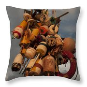 Long Wharf Buoys Throw Pillow