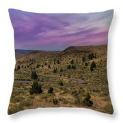 Long Winding Road In Central Oregon Throw Pillow