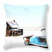 Long Winter Throw Pillow