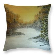 Long Winters Morning Throw Pillow