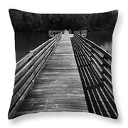Long Wooden Bridge Throw Pillow by Kelly Hazel