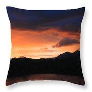Longfellow Mountains Sunset Throw Pillow