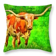 Longhorn 2 - Pa Throw Pillow