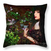 Longing For Springtime Gardens - Texture Throw Pillow