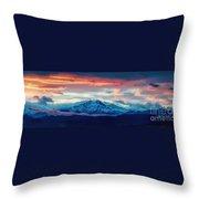 Longs Peak At Sunset Throw Pillow