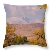 Longs Peak Diamond Autumn Shadow Throw Pillow
