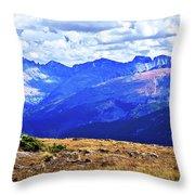 Longs Peak Rocky Mountain National Park Throw Pillow