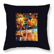 Lonley Bicycle Throw Pillow