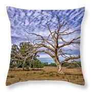 Lonley Tree Throw Pillow