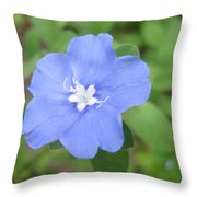 Lonly Blue Flower Throw Pillow