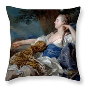 Loo, Louis-michel Van Tolon, 1707 - Paris, 1771 Diana In A Landscape 1739 Throw Pillow