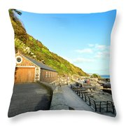 Looe Boathouse Throw Pillow